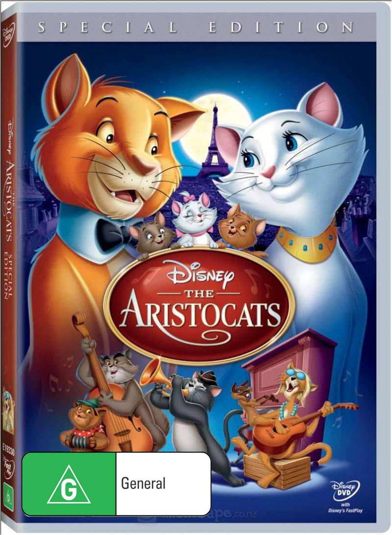 The Aristocats on DVD image