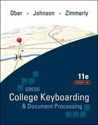 Gregg College Keyboarding & Document Processing (GDP); Lessons 1-60 text by Scot Ober image