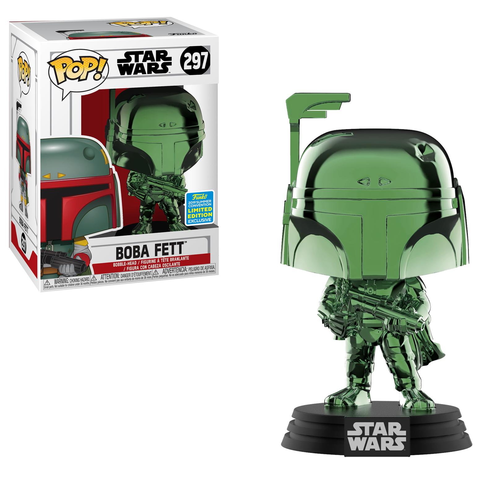 Star Wars: Boba Feet (Green Chrome) - Pop! Vinyl Figure image