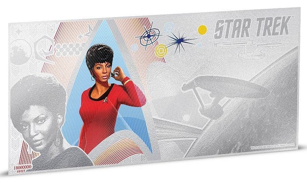 NZ Mint: Star Trek - Silver Coin Note - Lt. Uhura 2018 (5g Silver)