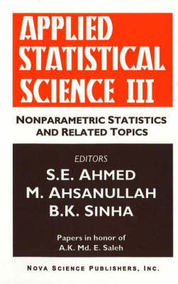 Applied Statistical Science: No. 3 image