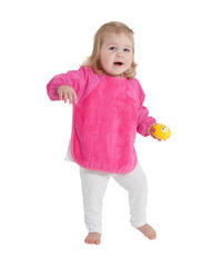 Mum 2 Mum Sleeved Wonder Bib (6-18 Months) - Cerise image