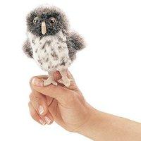 Folkmanis Mini Finger Puppet - Spotted Owl