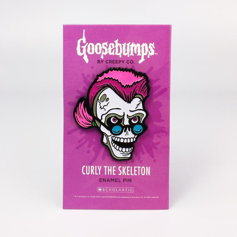 Goosebumps Curly the Skeleton Pin image