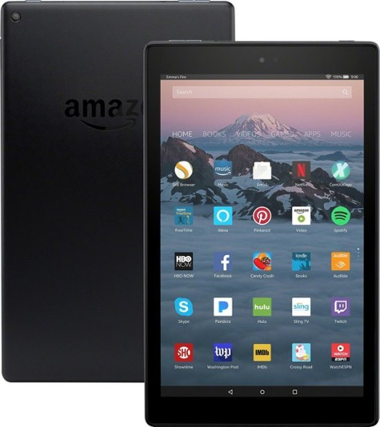 Amazon Fire Tablet HD10 32GB Black image