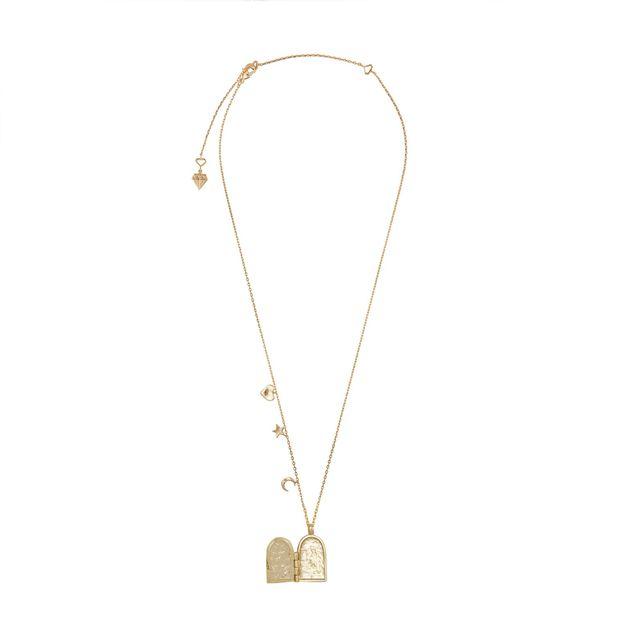 Wanderlust + Co: Astra Gold Locket Necklace