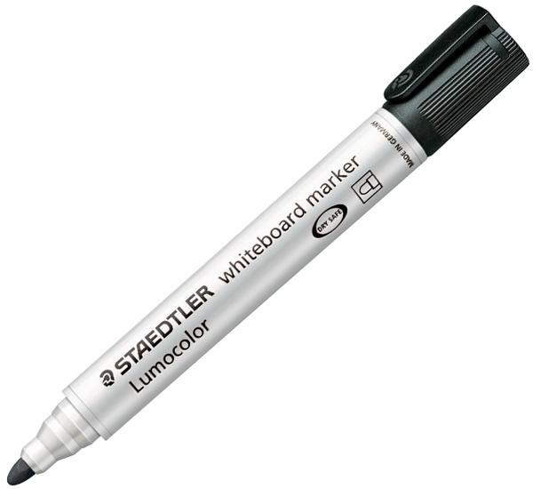 Staedtler 351 Whiteboard Bullet Tip Marker - Black image