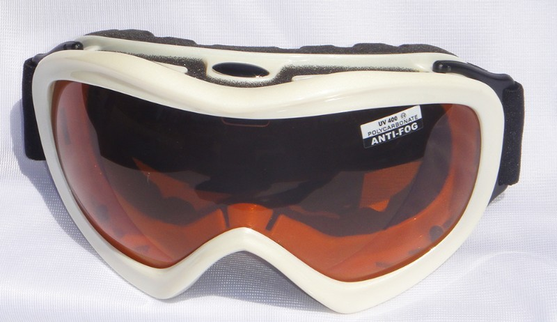 Mountain Wear Adult Goggles: Pearl White (G1474D) image