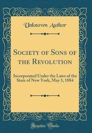 Society of Sons of the Revolution by Unknown Author image