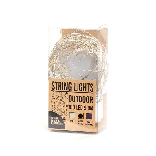 LED Outdoor String Lights - White (10m)