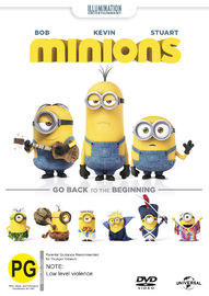 Minions on DVD image