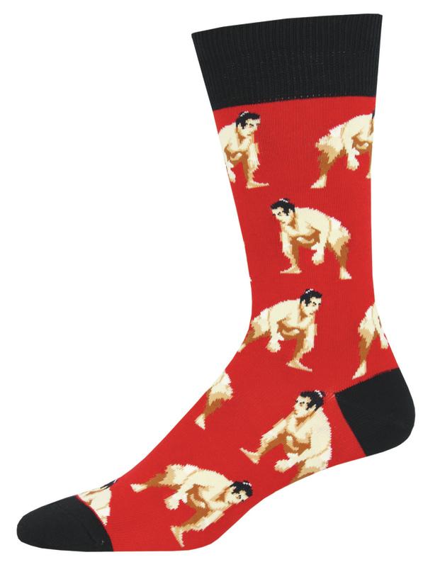 Socksmith: Men's Push Comes To Shove Crew Socks - Red