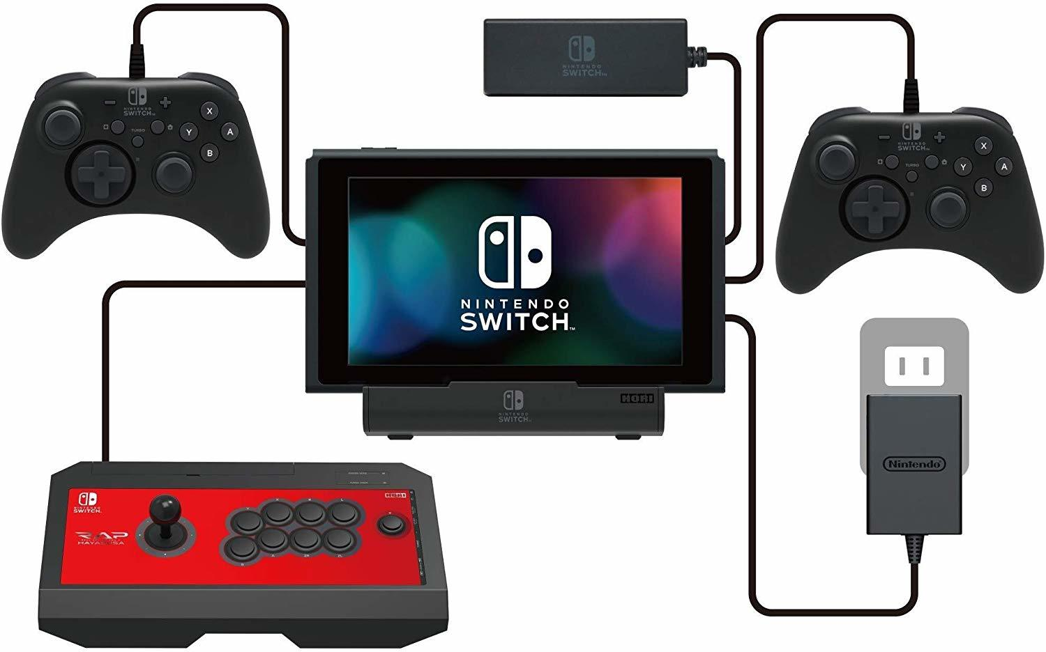 Hori Official Licensed Nintendo Switch MultiPort Playstand Dock and Charger for Switch image