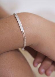 Bo + Bala: 17cm ID bracelet double chain image