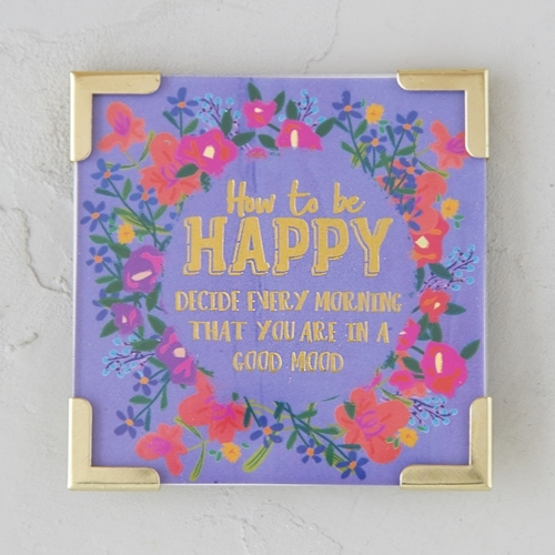 Natural Life: Metal Corner Magnet - How To Be Happy