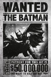 Batman Arkham Origins Wanted Wall Poster (97)