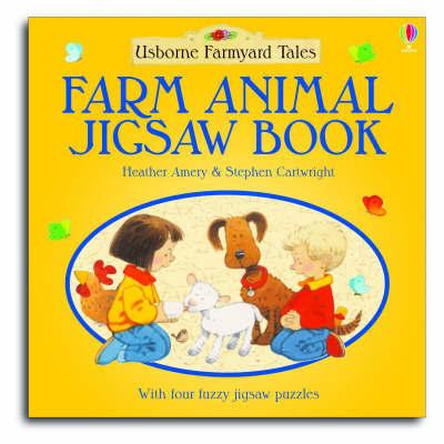 Farmyard Tales Farm Animals Jigsaw Book by Heather Amery image