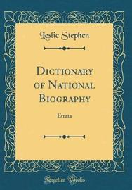 Dictionary of National Biography by Leslie Stephen image