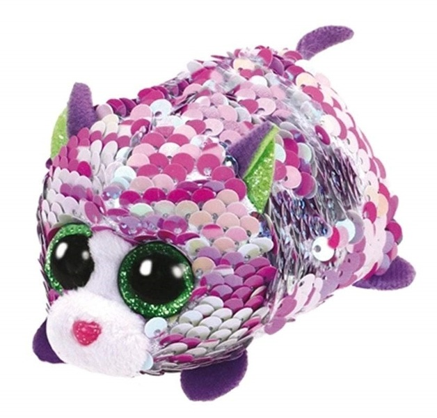 Ty Teeny: Sequin Lilac Cat - Small Plush