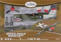 Testors P-40 Warhawk 1/48 Model Kit