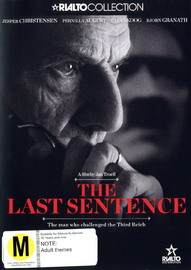 The Last Sentence on DVD image