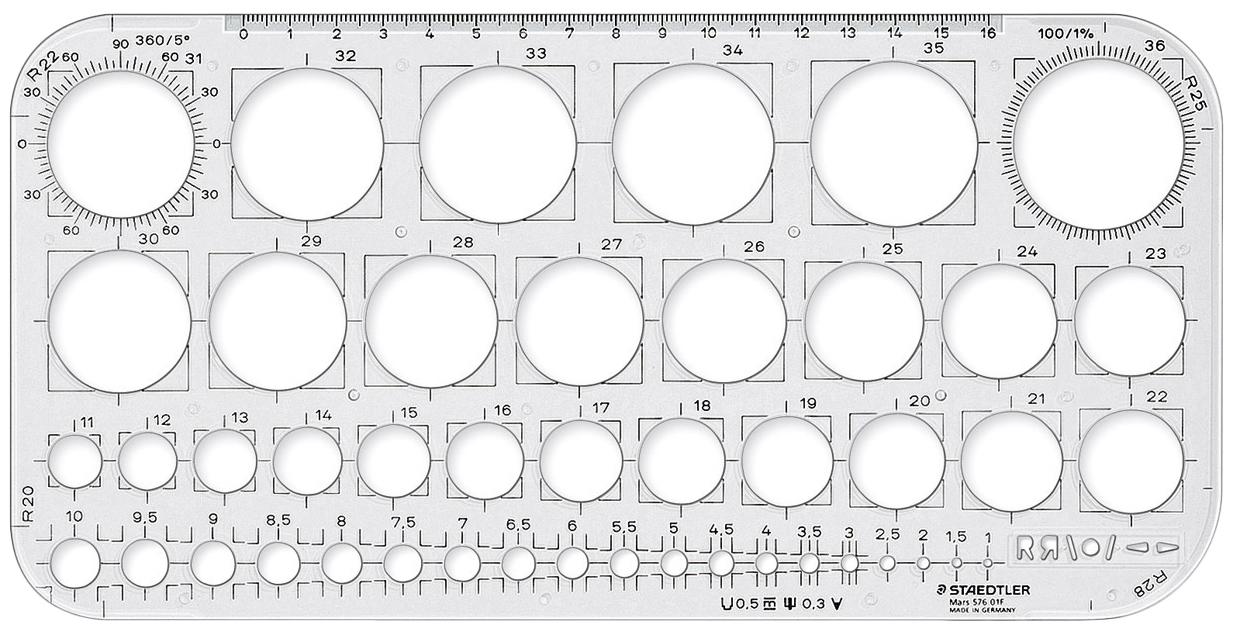 Staedtler Mars Circle Template image