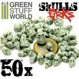 Green Stuff World: Resin ORK Skulls Set