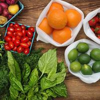 Ape Basics: Set of 9 Reusable Mesh Produce & Wash Bags image