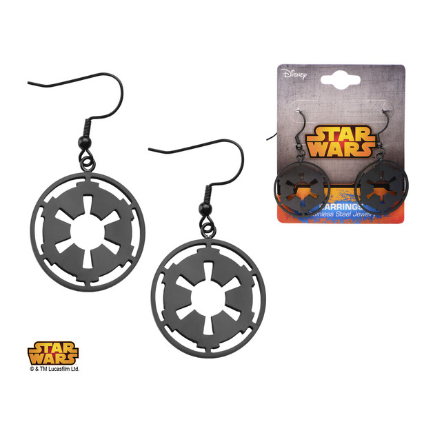 Star Wars Imperial Symbol Earrings