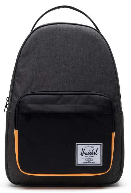 Herschel Supply Co: Miller Backpack - Black Crosshatch/Black/Blazing Orange