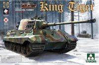 Takom: 1/35 German Heavy Tank King Tiger Henschel Turret Non-Zimmerit (Full Interior)