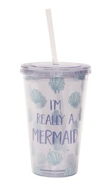 Mermaid Treasures - Drinks Cup with Straw