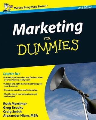 Marketing For Dummies by Gregory Brooks image