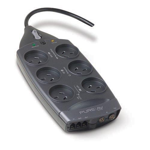 Belkin PureAV Series 6-Way (2m Cord) + TEL + AV image