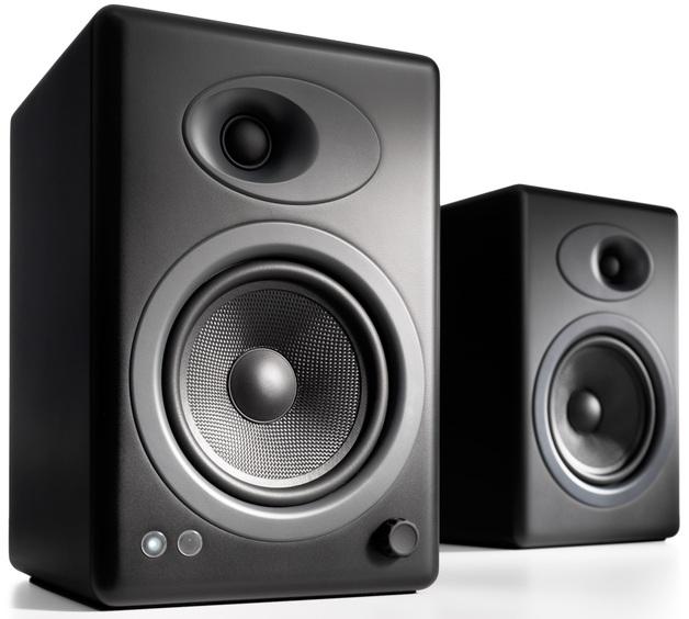 Audioengine 5+ Powered Bookshelf Speakers (Pair) Satin Black