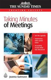 Taking Minutes of Meetings by Joanna Gutmann image