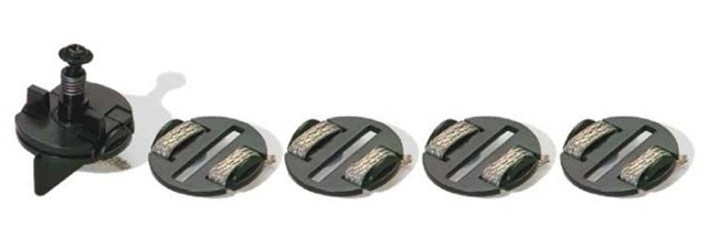 Scalextric Sprung Guide Blade & Braid Plates image