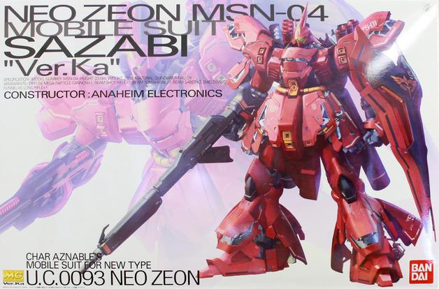 MG 1/100 MSN-04 Sazabi Ver. Ka - Model Kit