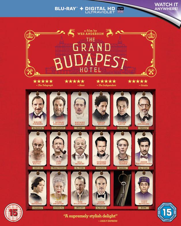 The Grand Budapest Hotel on Blu-ray, UV