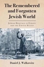 The Remembered and Forgotten Jewish World by Daniel J Walkowitz