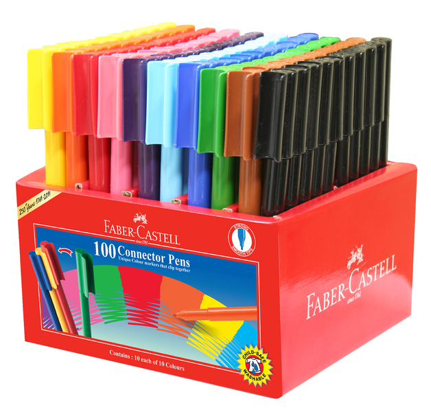Faber-Castell: Connector Pens (Caddie of 100)