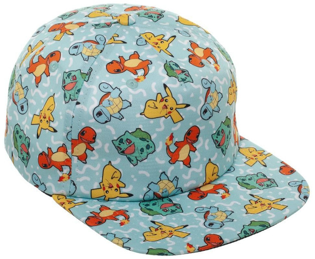 Pokemon: 90'S All Over Character Snapback Cap