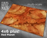 Cigar Box Mat: Red Planet (6x4 Plus)