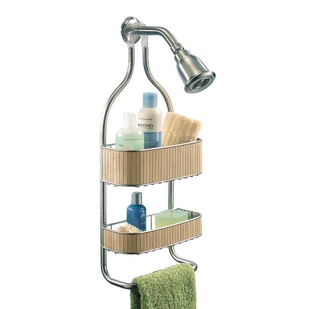 Interdesign Formbu Shower Caddy Chrome Bamboo At