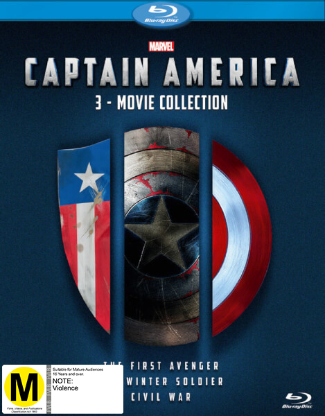 Captain America 1-3 Boxset on Blu-ray image