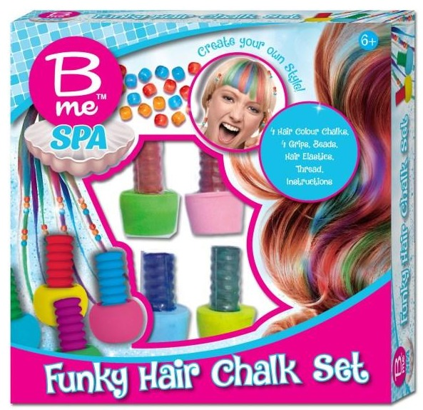 B.Me: Funky Hair Chalk - Creative Spa Kit