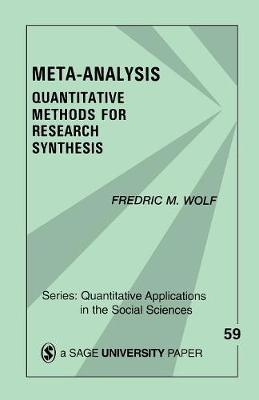 Meta-Analysis by Fredric (Fred) M. Wolf