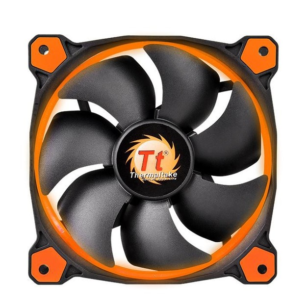 Thermaltake Riing 12 High Static Pressure LED Radiator Fan - Orange