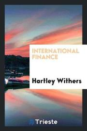 International Finance by Hartley Withers image