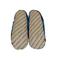 Slumbies Blue/Black Men's Plaid Slippers (L) image